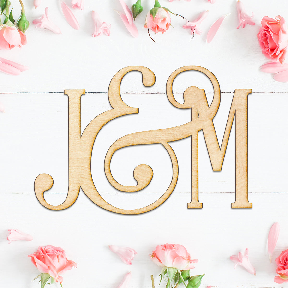 Wedding Initials Wood Sign