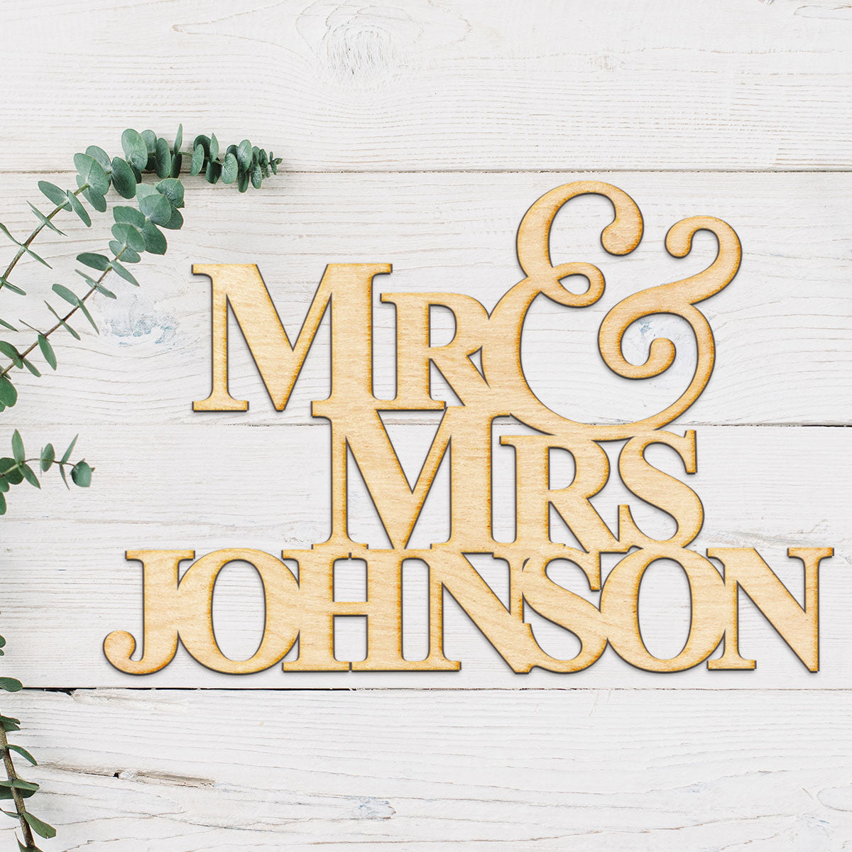 Wedding Name Wood Cut