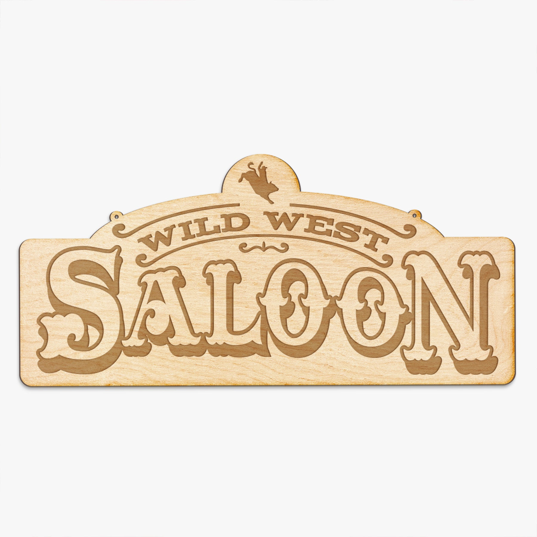 Wild West Saloon Engraved Sign