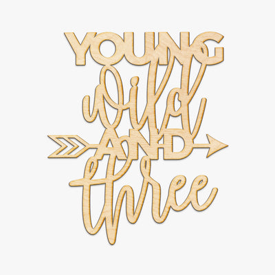 Young Wild and Three Wood Cut