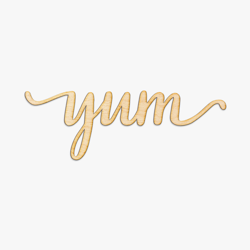 Yum Script Wood Sign