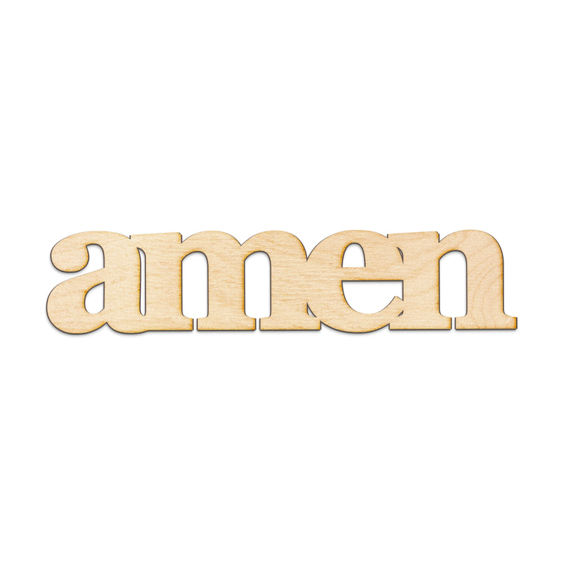 amen Wood Sign