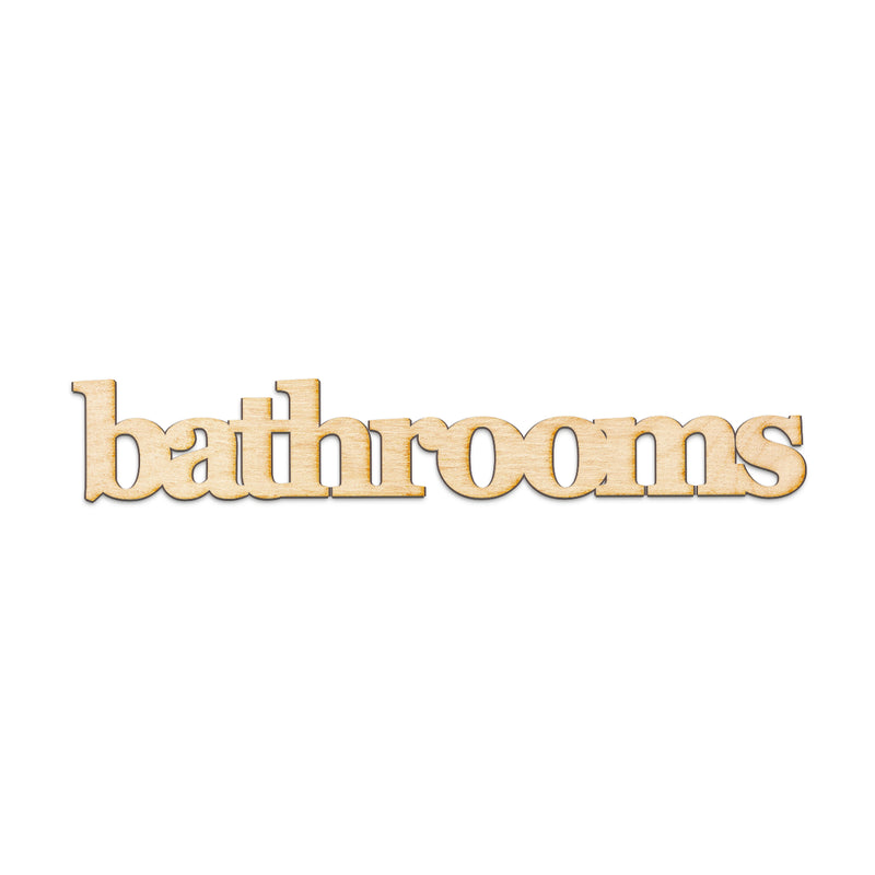 bathrooms Wood Sign