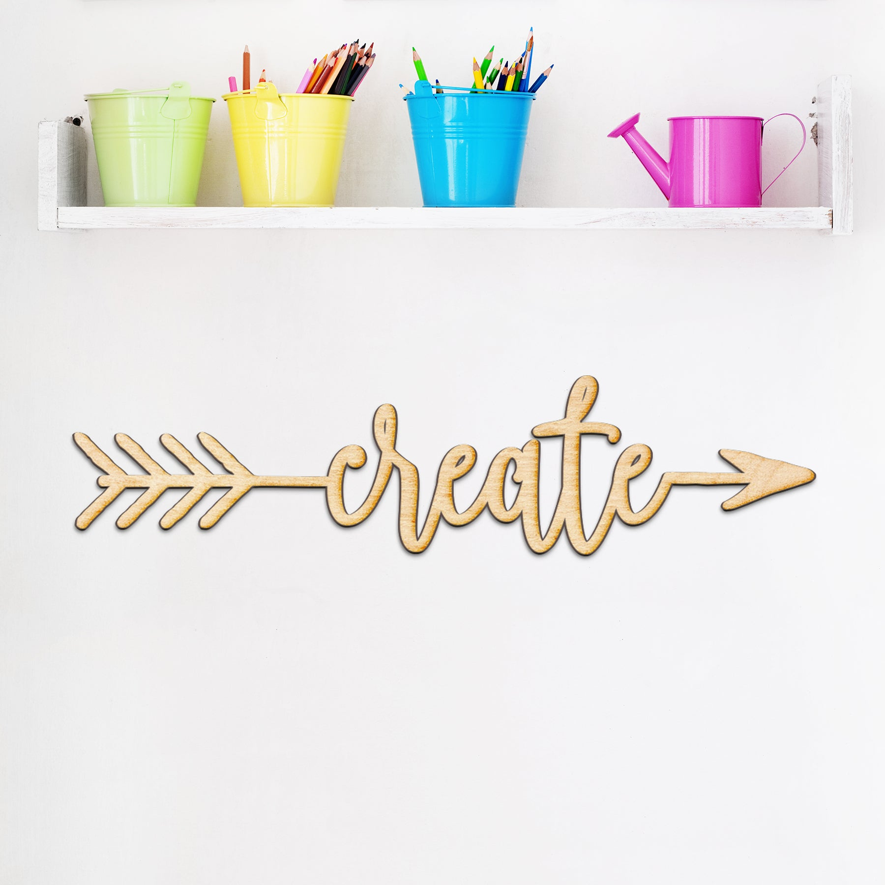 Create Arrow Wood Sign