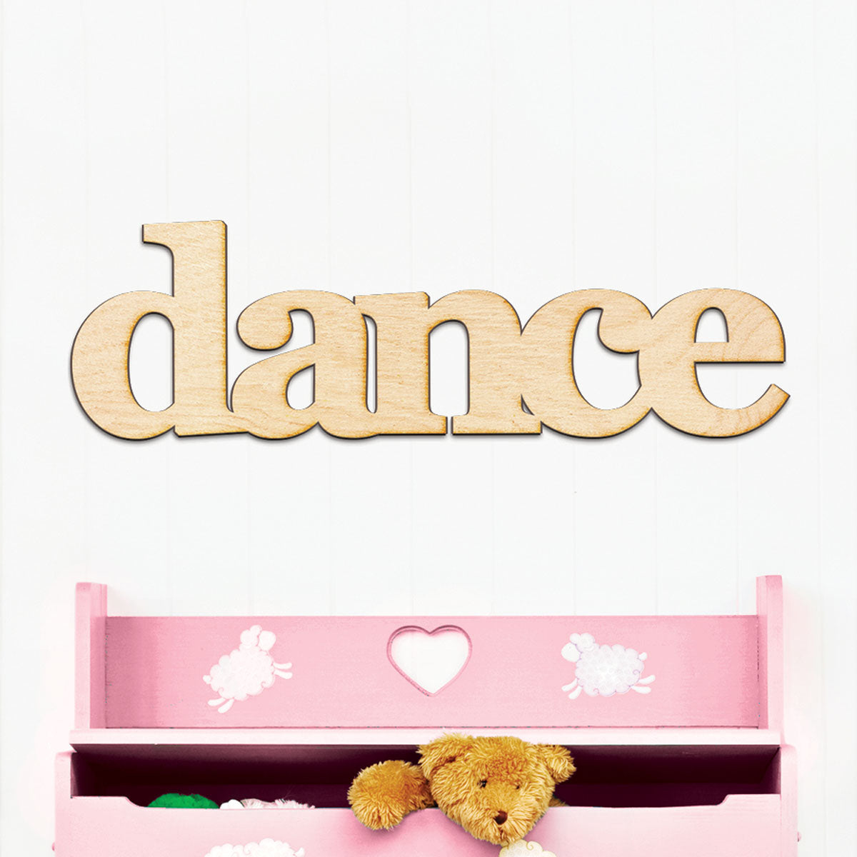 dance Wood Sign