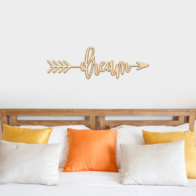 Dream Arrow Wood Sign