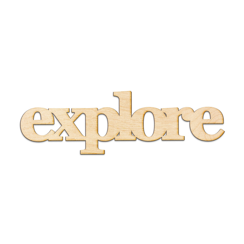 explore Wood Sign