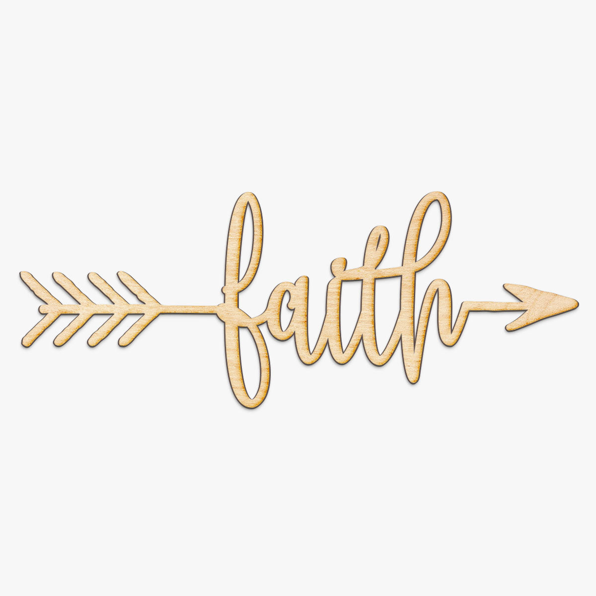 Faith Arrow Wood Sign