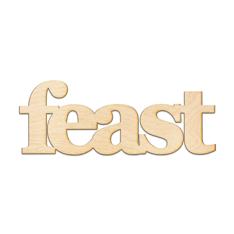 feast Wood Sign
