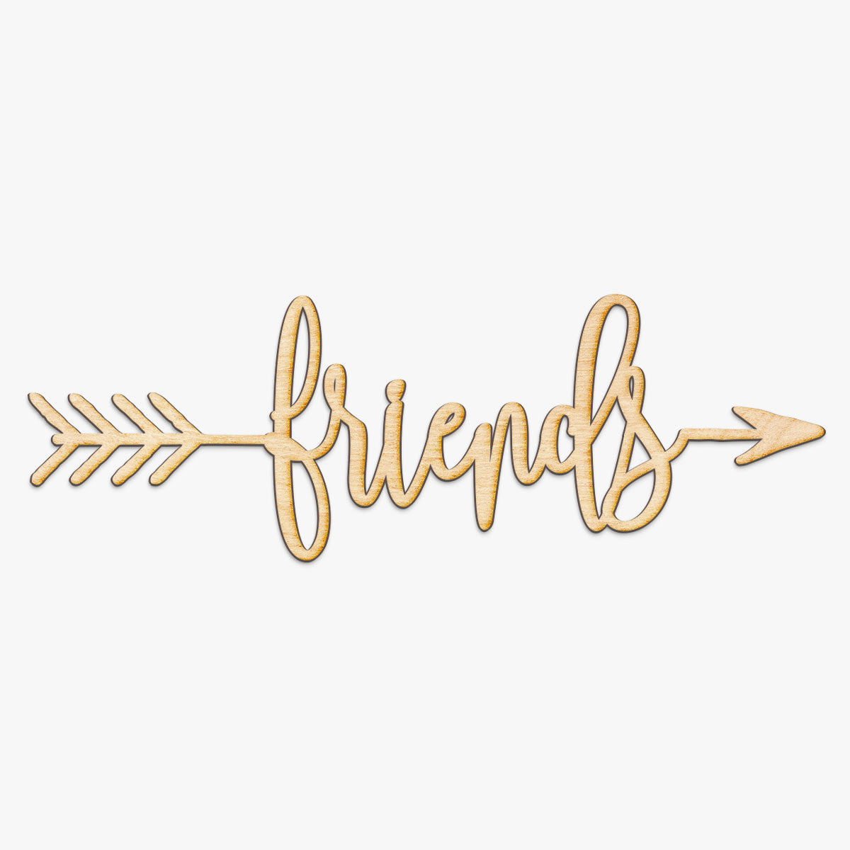 Friends Arrow Wood Sign