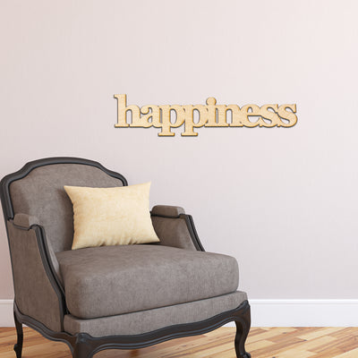 happiness Wood Sign