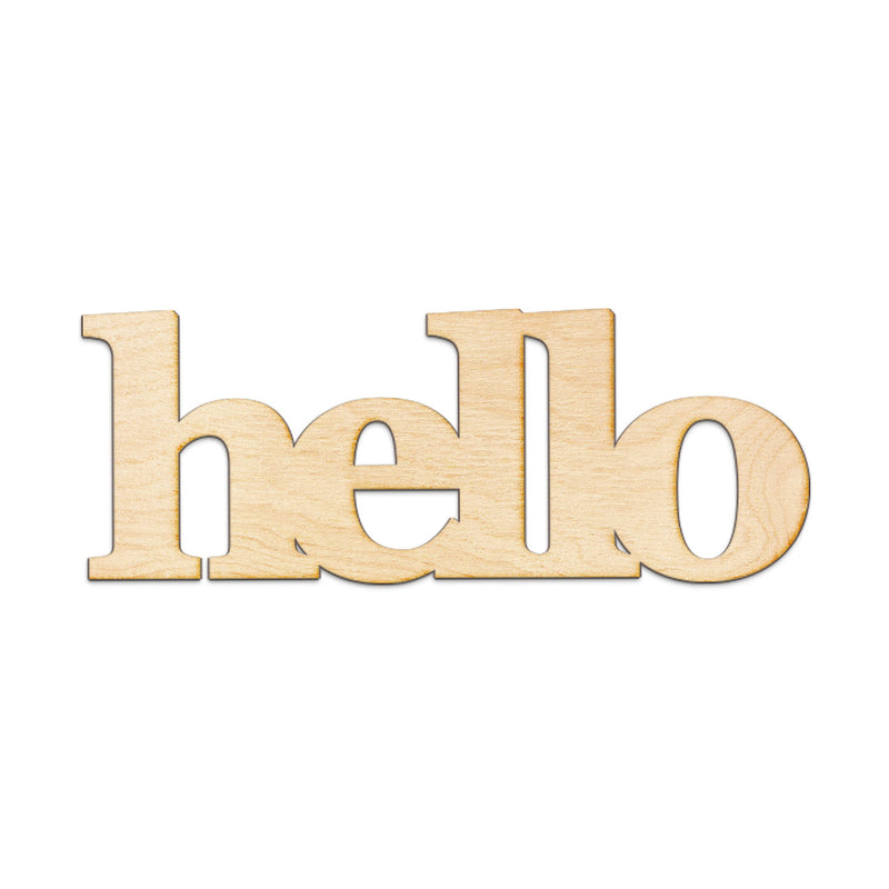 hello Wood Sign