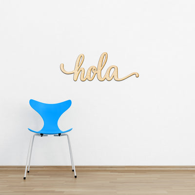 hola Wood Sign