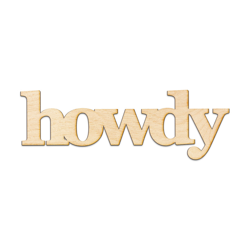 howdy Wood Sign