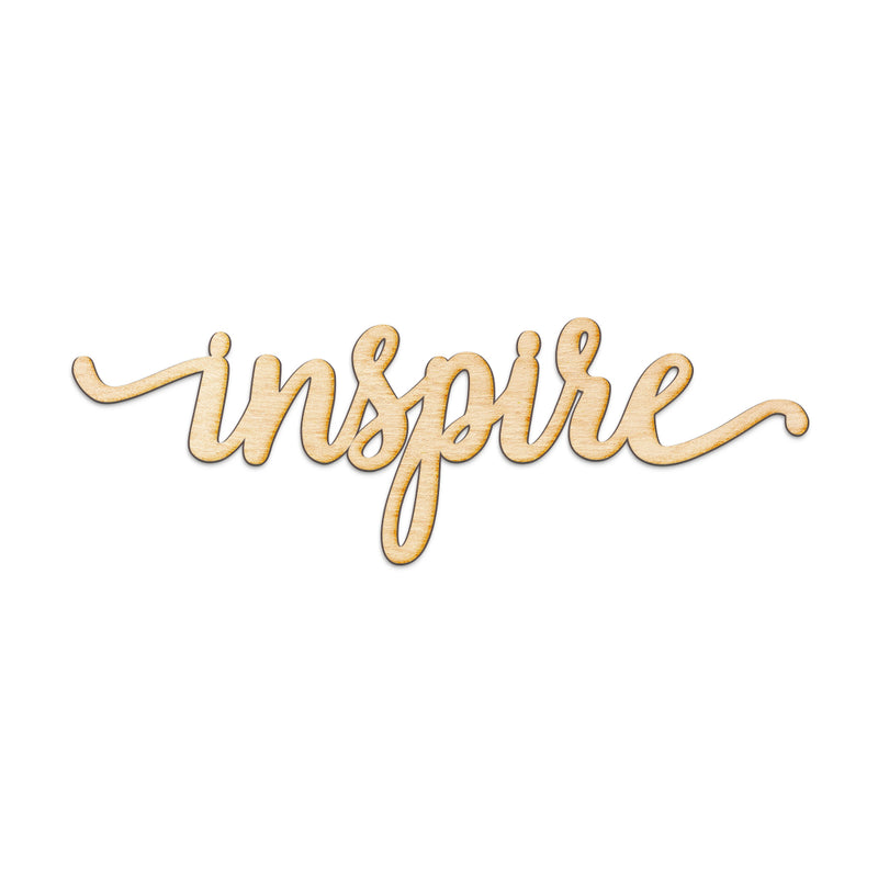 inspire Wood Sign