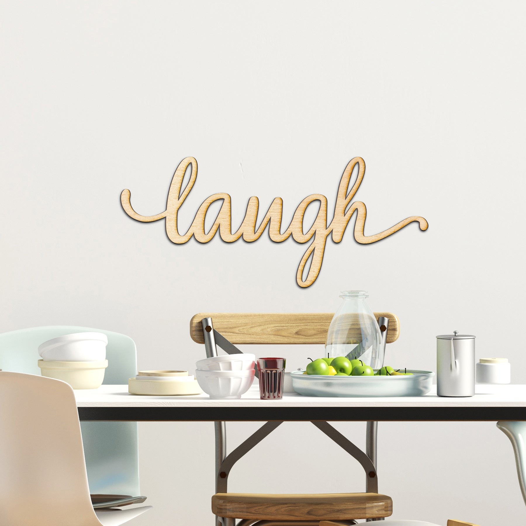 laugh Wood Sign