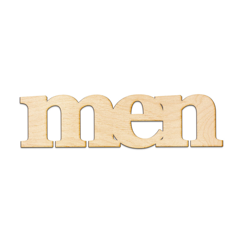 men Wood Sign
