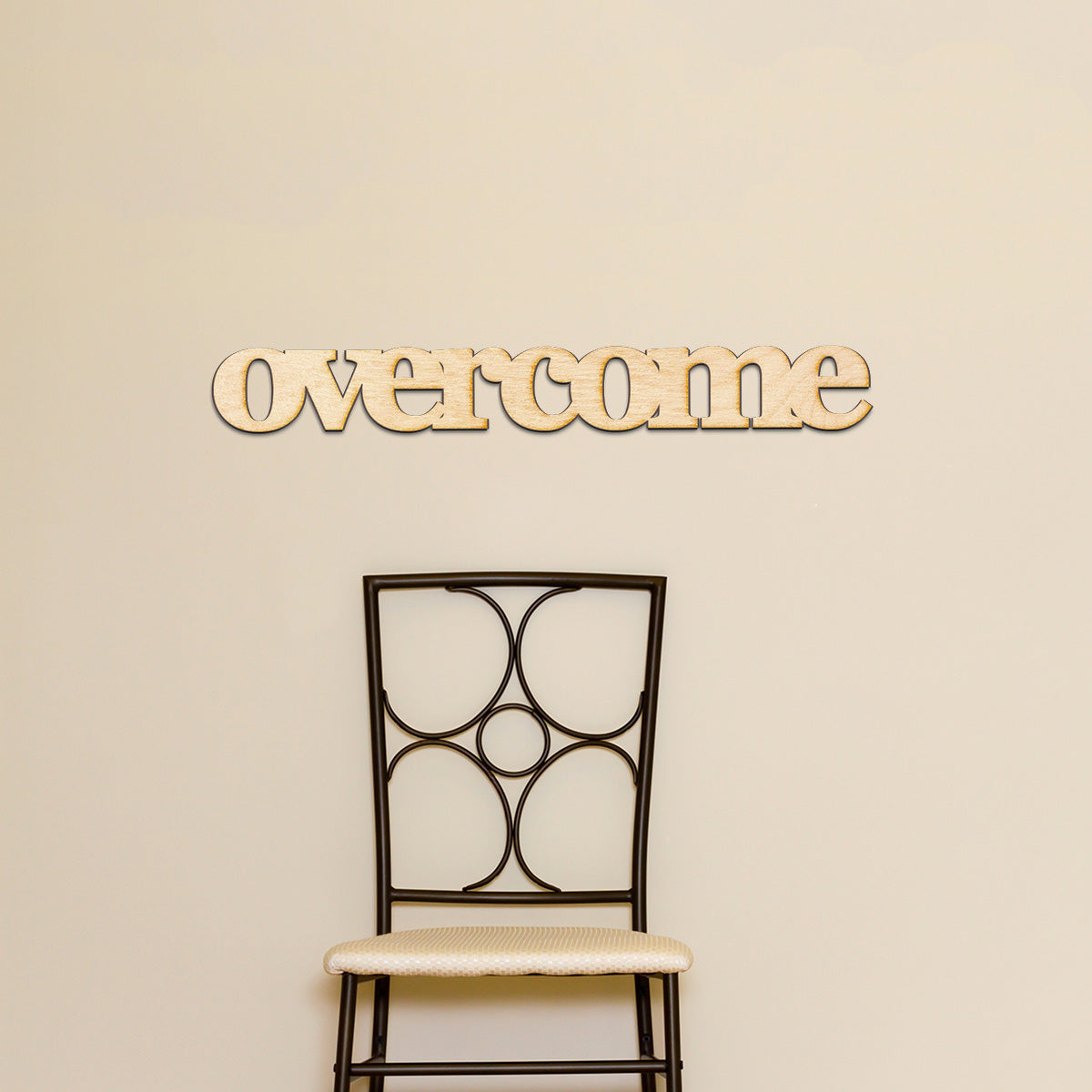 overcome Wood Sign
