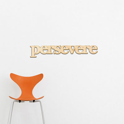 persevere Wood Sign