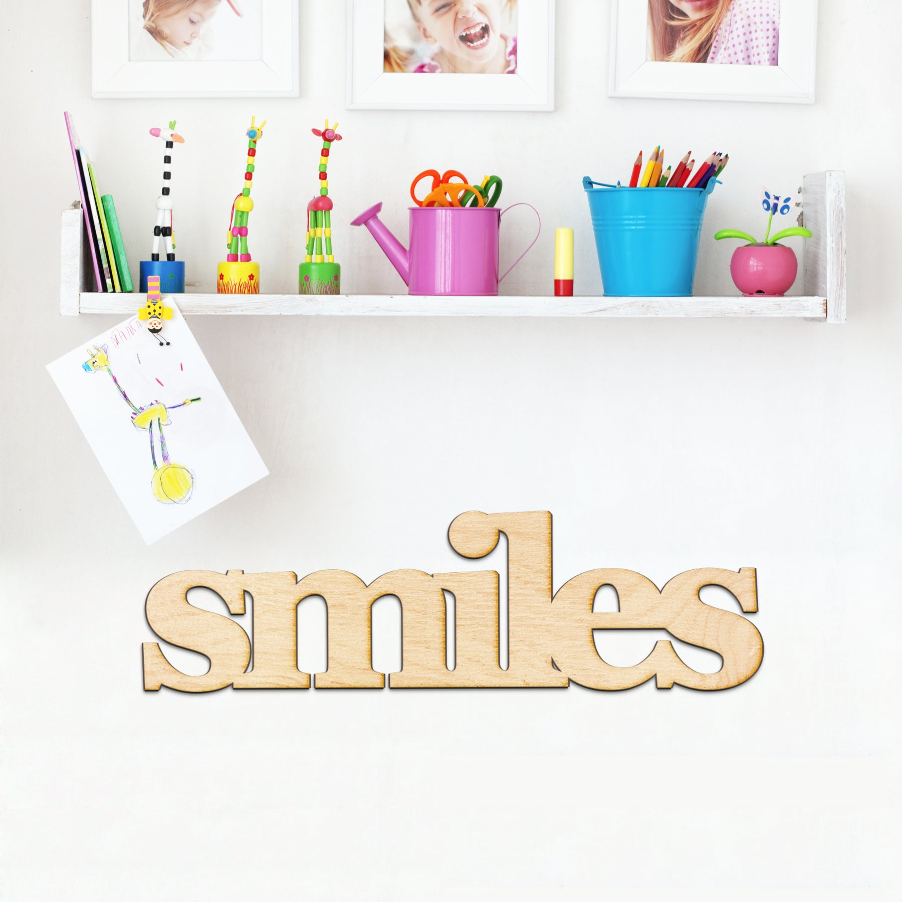 smiles Wood Sign
