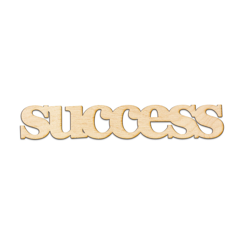 success Wood Sign