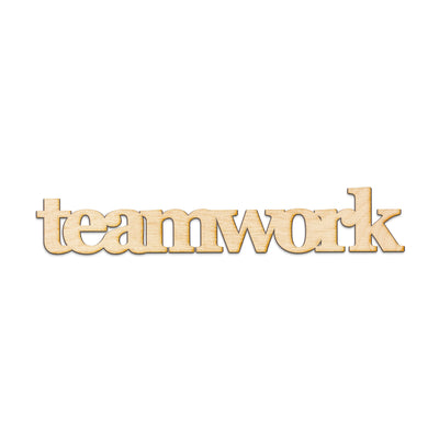 teamwork Wood Sign