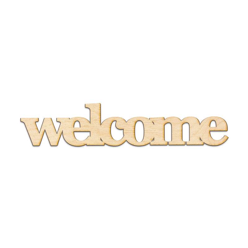 welcome Wood Sign