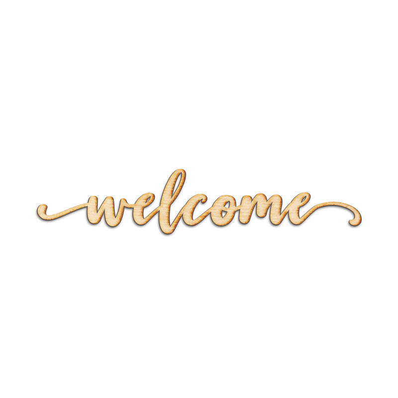 Welcome Neverland Script Wood Cut Sign