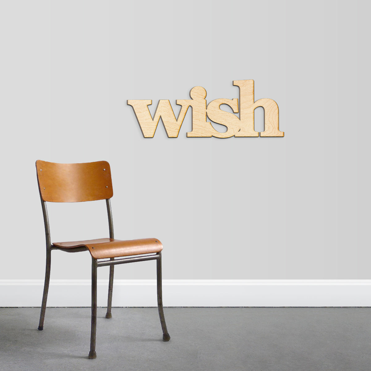 wish Wood Sign