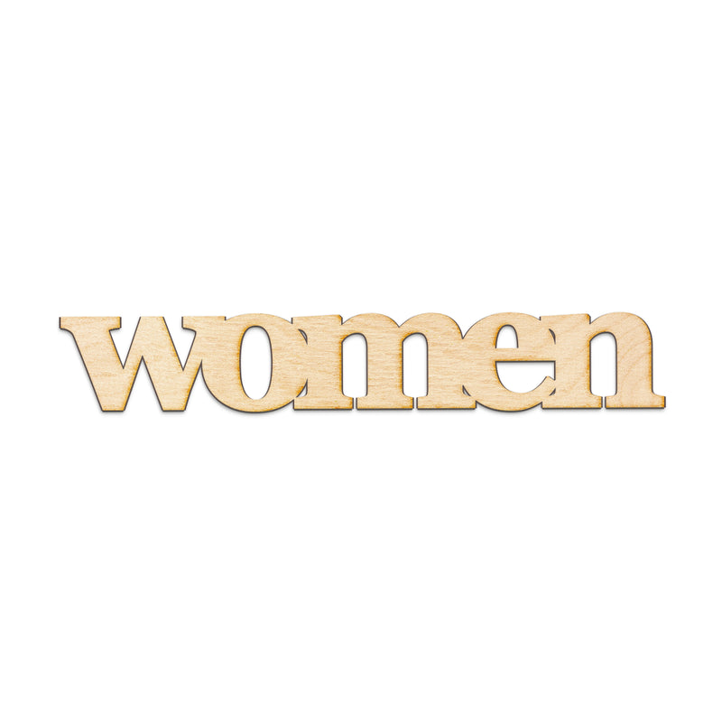 women Wood Sign