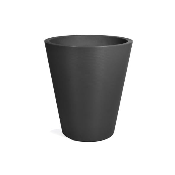 "Veradek Pro Series : 30"" Curve Grooved Planter Set w/ Shelf (Black)"