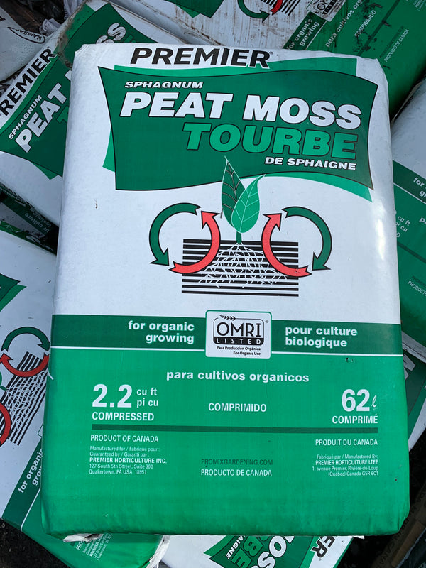 Sphagnum Peat Moss (Large Compressed Bale)