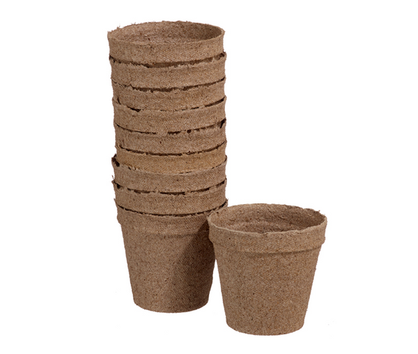 Pack of 10 Peat Moss Pots - 3""