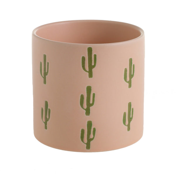 Cactus motif on the peach coloured Cali pot.