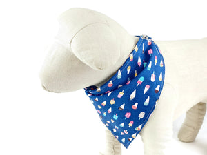 Popsicle dog bandana with snaps