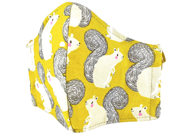 Yellow Squirrel Face Mask - 9003
