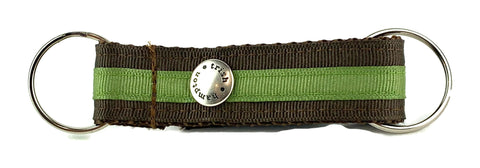 Chocolate/Green Stripe Snappy Keychain - 301