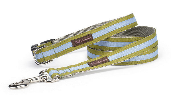 Sage/Periwinkle Stripe Sale Dog Collar- 319