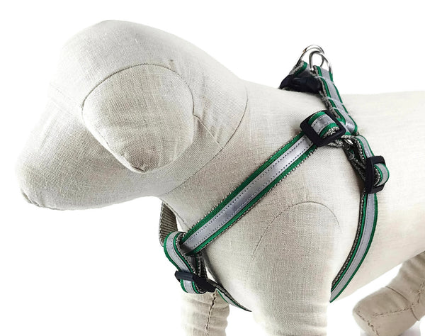 Kelly Green Reflective Dog Harness - 411