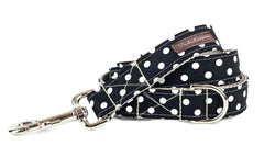 Black/White Polka Dots Lead/Leash - 501