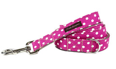 Hot Pink/White Polka Dots Dog Leash - 504