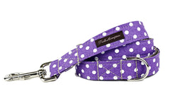 Purple/White Polka Dots Dog Leash - 507