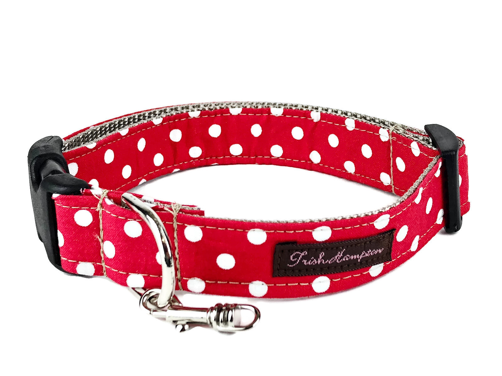 Red / White Polka Dot Dog Collar - 508