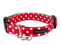 Red/White Polka Dots Dog Collar - 508