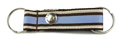 Chocolate/Periwinkle Stripe Snappy Keychain - 602