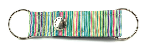 Green Candy Stripe Snappy Keychain - 611