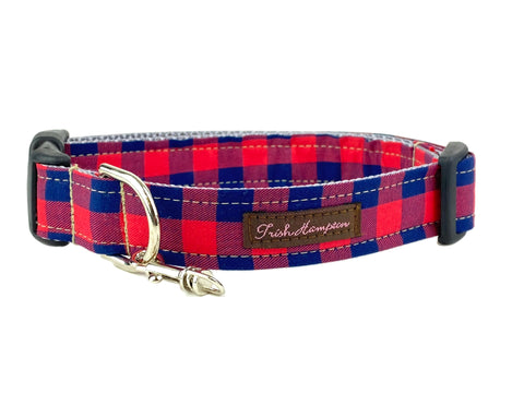 Navy/Red Plaid Dog Collar - 766