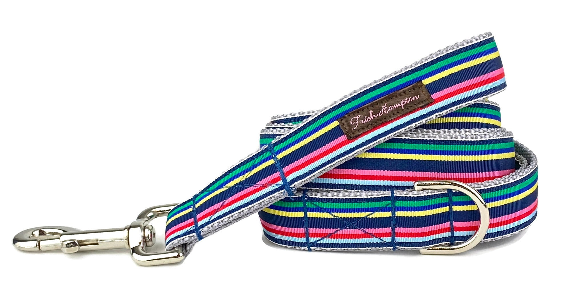 Navy Multi Stripe 6ft Dog Leash - 769