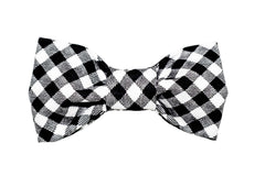 Black/White Gingham Dog Bow Tie - 917