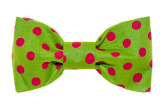 Green/Red Dots Dog Bow Tie - 987